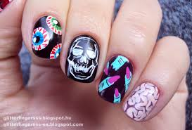 nail art halloween mix u0027n u0027 match glitterfingersss in english