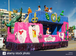 mardi gras floats for sale mardi gras revellers on parade floats in galveston usa
