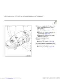 engine audi a4 2002 b5 1 g radio system general information