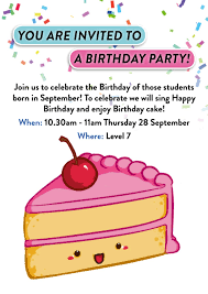 you are invited to celebrate september birthday party sri english
