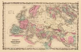 Roman World Map by Johnson U0027s Map Of The Roman Empire 1865 Hjbmaps Com U2013 Hjbmaps Com
