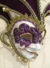 venetian jester mask purple gold masquerade mask venetian jester mulberry moon