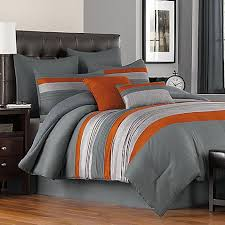 Orange Bed Sets Grey And Orange Bedding Orange And Gray Bedding Sets 11985 Freda