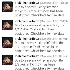 kidney infection my melanie concert experience not recent crybabies amino