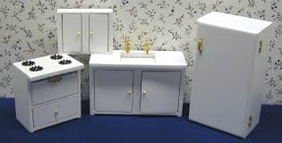 dollhouse furniture kitchen white dollhouse kitchen furniture in 1 scale