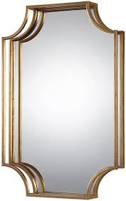 Uttermost Mirrors Dealers Uttermost 09123 Lindee Gold Wall Wall Mirror Utt 09123