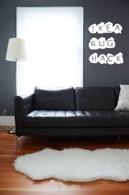 Cheap Sheepskin Rugs Simple Living Room With White Faux Double Sheepskin Rug Ikea And
