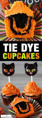 Making Halloween Cakes by Easy Tie Dye Halloween Cupcakes