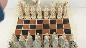 Ceramic Chess Set Large Medieval Ceramic Chess Pieces And Board Set 5 3 4