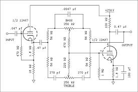 tone control tube amp circuit with 12au7 electronic circuit