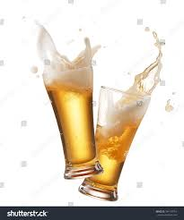 martini splash png two glasses beer toasting creating splash stock photo 344170754