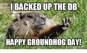 Groundhog Meme - backedup the db happy groundhog day memes comu groundhog day