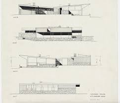 Modern House Drawing by Robinson House Marcel Breuer Modern Architecture Blog