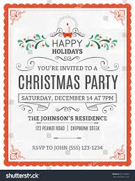 vector christmas party invitation dummy text stock vector