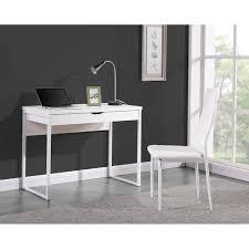 bureau 100 cm hexa bureau contemporain pieds en métal laqué et plateau en mdf