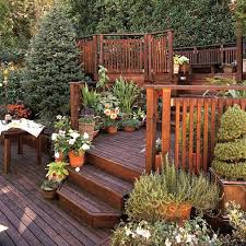 decking ideas for gardens sloped backyard deck ideas the garden inspirations