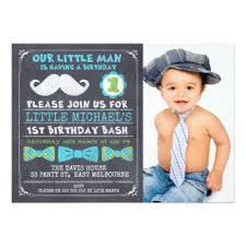 1st birthday mustache invitations u0026 announcements zazzle