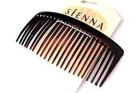 the hair grip 2 beautiful plain brown thick teeth comb hair slide hair grip