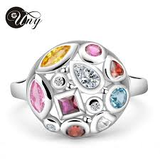 unique mothers rings uny ring personalized birthstone rings 925 silver fashion jewelry