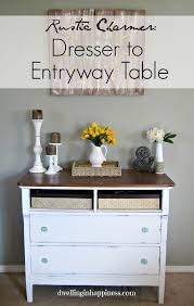 Using A Dresser As A Changing Table Rustic Charmer From Dresser To Entryway Table