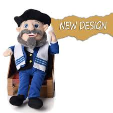 mensch on a bench plush toy and book as seen on shark tank