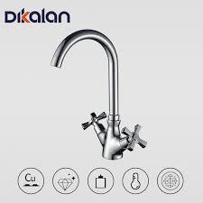 handle kitchen faucet dikalan retro style handle kitchen faucet tap antique brass