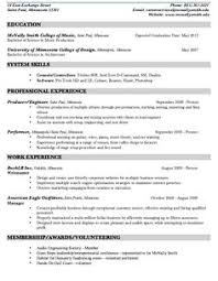 Music Resume Example by Sample Photographer Resume Freelance Photographer Resume