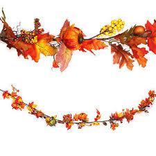 autumn leaves leaf pumpkin hanging garland
