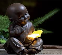 solar buddha ornaments lighting garden and outdoor