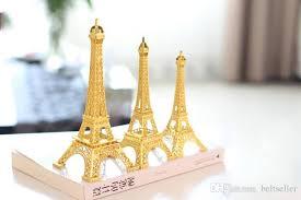 2017 gold 3d paris eiffel tower model home metal souvenir crafts