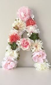 floral letters from begoniaroseco on etsy handmade floral decor