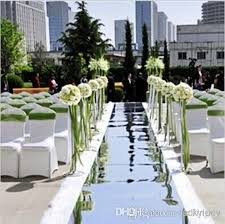 10m 1 M Wide Shiny Wedding Decor Mirror Carpet Aisle Runner With