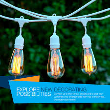Edison Bulb Patio String Lights by Brightech Store Brightechtm U2013 Ambience Pro Vintage Edition