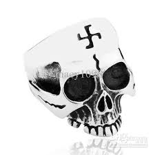 2018 the war 2 iron cross skull rings vintage 316l
