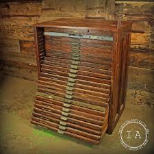 vintage industrial 24 drawer hamilton flat file print cabinet
