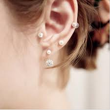 ear studds lnrrabc rhinestones earrings ear studs for