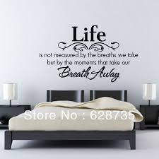 home decor quotes life is not measured by the breaths