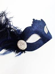 blue masquerade masks luxury navy blue diamante venetian masquerade mask