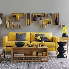 grey and yellow living room decor 2017 grasscloth wallpaper
