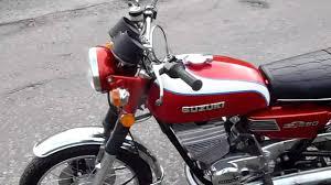 1975 suzuki gt250 gt250m classic motorbike red rebuilt by shugtech