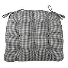 amazon com dining chair pad with ties black u0026 white madrid
