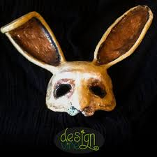paper mache rabbit shop paper mache mask on wanelo