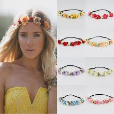 flower headbands hot women bohemian flower headband floral headbands garland flower