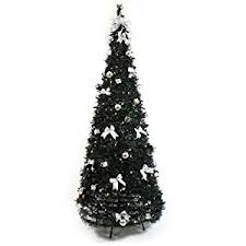 6ft pre lit artificial pop up tree black with