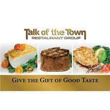Food Gifts By Mail Delivery By Mail Gift Card Talk Of The Town Restaurant Group