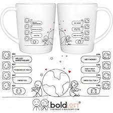 His And Hers Items Amazon Com Boldloft Wish You Were Here Couple Coffee Mugs Long