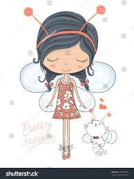 fairy vectorcute vectortshirt printbook illustrations stock