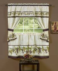 Kitchen Valance Ideas Old Fashioned Green Tiered Kitchen Cafe Curtain Design For Window