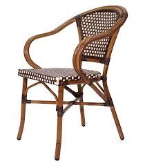Rattan Bistro Chairs Furniture Dark Brown With Ot Design Cuhsion Rattan Chair