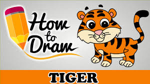 how to draw a tiger easy step by step cartoon art drawing lesson